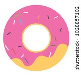 cute and sweet doughnut with... | Shutterstock .eps vector #1028857102