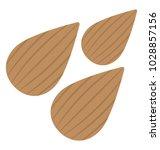 almond  nutty field flat icon  | Shutterstock .eps vector #1028857156