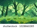 summer fantasy forest landscape ... | Shutterstock .eps vector #1028860285