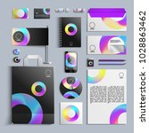 corporate identity template in... | Shutterstock .eps vector #1028863462