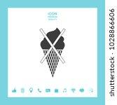 no ice cream symbol icon | Shutterstock .eps vector #1028866606