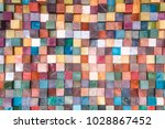 close up wooden blog square... | Shutterstock . vector #1028867452