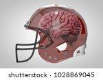 3d rendering of football helmet | Shutterstock . vector #1028869045