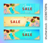 set of summer sale web banners. ... | Shutterstock .eps vector #1028870896