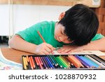 portrait of cute asian little... | Shutterstock . vector #1028870932