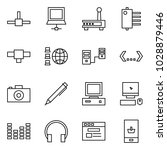 flat vector icon set   connect... | Shutterstock .eps vector #1028879446