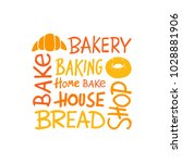 bakery logo  icon and label for ... | Shutterstock .eps vector #1028881906