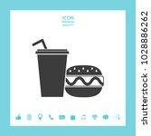 hamburger or cheeseburger ... | Shutterstock .eps vector #1028886262