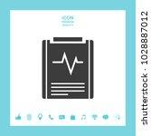 electrocardiogram symbol icon | Shutterstock .eps vector #1028887012
