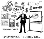 business and finance icon set ... | Shutterstock .eps vector #1028891362