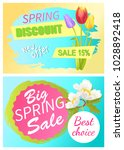 spring discount new offer sale... | Shutterstock .eps vector #1028892418