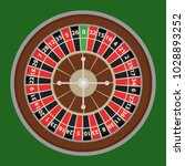 roulette  a roulette wheel of a ... | Shutterstock .eps vector #1028893252
