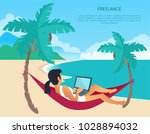freelance colorful card with... | Shutterstock .eps vector #1028894032