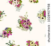 seamless pattern in small cute... | Shutterstock . vector #1028907958