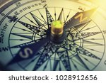old compass. macro shot. retro... | Shutterstock . vector #1028912656
