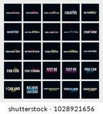 big set of inspiring motivation ...   Shutterstock .eps vector #1028921656