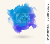 blue watercolor hand drawn... | Shutterstock .eps vector #1028926672