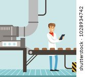 chocolate factory production... | Shutterstock .eps vector #1028934742