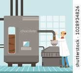 machine for the production of... | Shutterstock .eps vector #1028934826