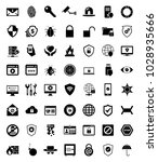 security and protection icons | Shutterstock .eps vector #1028935666