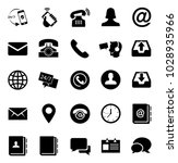 contact us icons | Shutterstock .eps vector #1028935966