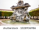 detail of the fountain at place ... | Shutterstock . vector #1028936986