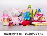 set of baby accessories | Shutterstock . vector #1028939572