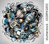 cartoon vector doodles space...   Shutterstock .eps vector #1028941852