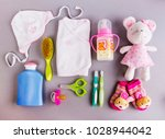 set of baby accessories | Shutterstock . vector #1028944042