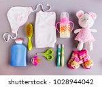 set of baby accessories   Shutterstock . vector #1028944042