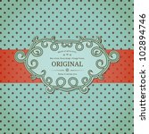Vintage Background With Polka...