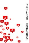 follow icon. notifications with ... | Shutterstock .eps vector #1028948512