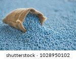 chemical fertilizer in gunny... | Shutterstock . vector #1028950102
