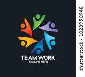 peoples logo design vector | Shutterstock .eps vector #1028950948