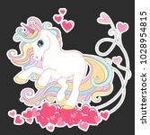 unicorn vector illustration for ... | Shutterstock .eps vector #1028954815