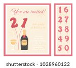 birthday party invitation card  ... | Shutterstock .eps vector #1028960122