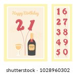 birthday party invitation card  ... | Shutterstock .eps vector #1028960302