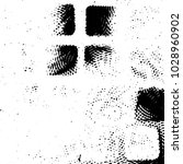 grunge halftone black and white ... | Shutterstock .eps vector #1028960902