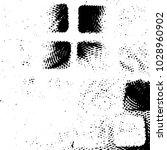 grunge halftone black and white ... | Shutterstock .eps vector #1028960902