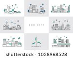 illustration of ecology icons | Shutterstock . vector #1028968528