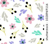 floral seamless pattern with...   Shutterstock .eps vector #1028969116