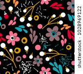floral seamless pattern with...   Shutterstock .eps vector #1028969122