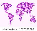vector illustration. valentine... | Shutterstock .eps vector #1028972386