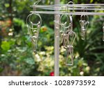 close up stainless cloth clamp  | Shutterstock . vector #1028973592