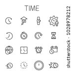 time related vector icon set.... | Shutterstock .eps vector #1028978212