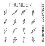 thunder related vector icon set.... | Shutterstock .eps vector #1028978266