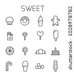 sweet related vector icon set.... | Shutterstock .eps vector #1028978782