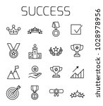 success related vector icon set.... | Shutterstock .eps vector #1028978956