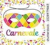 italian carnival illustration... | Shutterstock . vector #1028979865