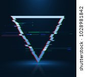 geometrical glitched banner .... | Shutterstock .eps vector #1028981842